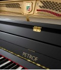 Photo of the pins and keyboard of the Upright Piano Petrof P122 N2