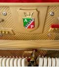 Foto detalle del interior del Piano Vertical Petrof P122 N2