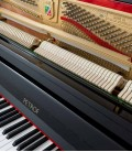 Photo of the keyboard and the action of the Upright Piano Petrof P122 N2
