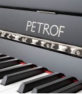 Photo of the Upright Piano Petrof model P118 S1 of the Middle Series front and in three quarters