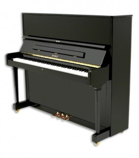 Photo of the Upright Piano Petrof model P125 F1 of the Higher Series front and three quarters