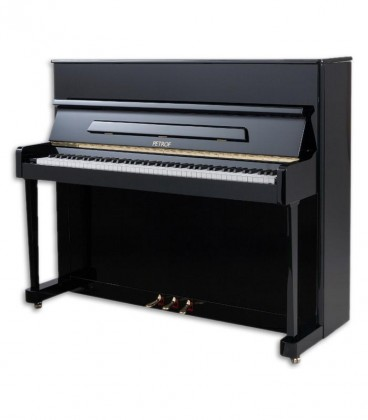 Photo of the Upright Piano Petrof model P118 P1 from the Middle Series front and three quarters