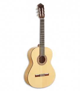 Photo of the flamenco guitar Paco Castillo model 211 F Front and three quarters