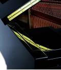 Foto detalle de la tapa y mueble del Piano de Cola Petrof P159 Bora