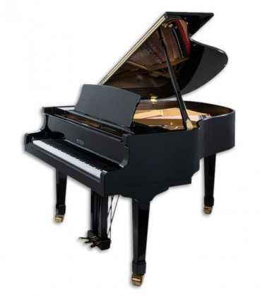 Photo of the Grand Piano Petrof model P173 Breeze from the Standard Series front and three quarters