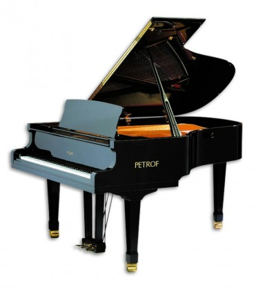 Photo of the Grand Piano Petrof model P194 Storm from the Standard Series front in three quarters