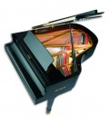 Photo of the Grand Piano Petrof P194 Storm seen from above and with the top board open