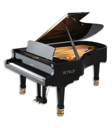 Photo of the Grand Piano Petrof model P210 Pasat from the Master Series front and in three quarters