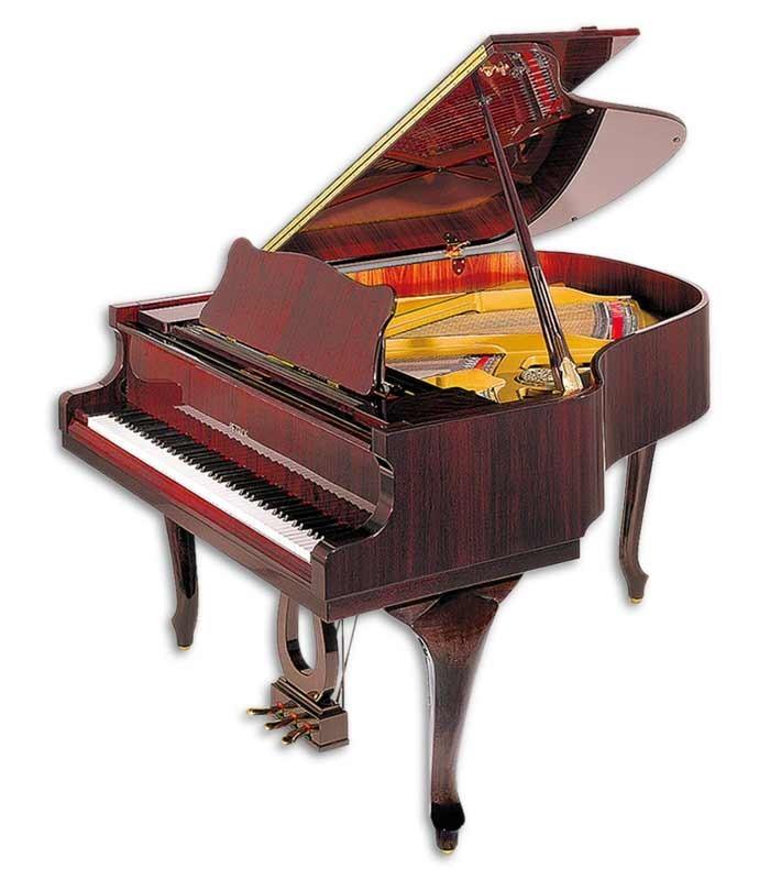 Foto do Piano de Cauda Petrof modelo P173 Breeze Demichipendale da Style Collection de frente e em três quartos
