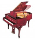 Photo of the Grand Piano Petrof model P173 Breeze Chipendale from the Style Collection front and in three quarters