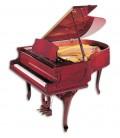 Foto del Piano de Cola Petrof modelo P173 Breeeze Chipendale de la Style Collection de frente y en trés cuartos