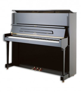 Photo of the Upright Piano Petrof model P125 G1 from the Higher Series fronta and three quarters