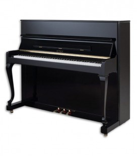 Photo of the Upright Piano Petrof model P118 D1 from the Style Collection front and in three quarters