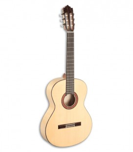 Photo of the flamenco guitar Paco Castillo model 213 F front and in three quarters