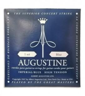 Foto de la portada del embalaje del Juego de Cuerdas Augustine Imperial Blue para Guitarra Clásica