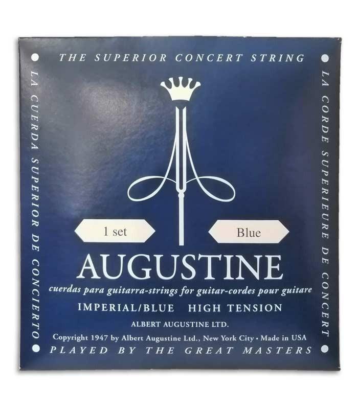 Foto da capa da embalagem do Jogo de Cordas Augustine Imperial Blue para Guitarra Clássica