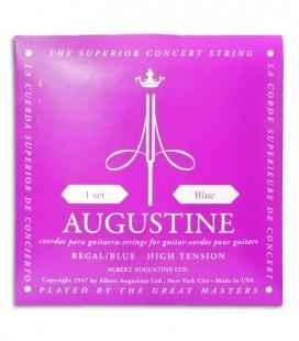 Foto de la portada del embalaje del Juego de Cuerdas Augustine Regal Blue para Guitarra Clásica