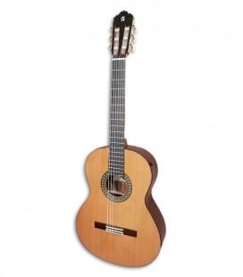 Foto de la guitarra clásica Alhambra modelo 5P E1 de frente y en trés cuartos