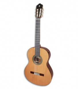 Foto da guitarra clássica Alhambra modelo 5P E1 de frente e em três quartos