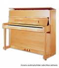 Photo of the Upright Piano Petrof P118 P1 with a satin alder cabinet