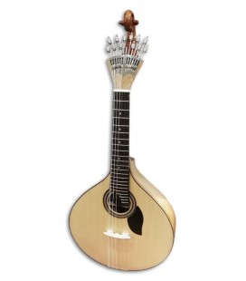 Photo of the Artimúsica Portuguese Guitar Simple Lisbon Model 70070 in 3/4 size front and in three quarters