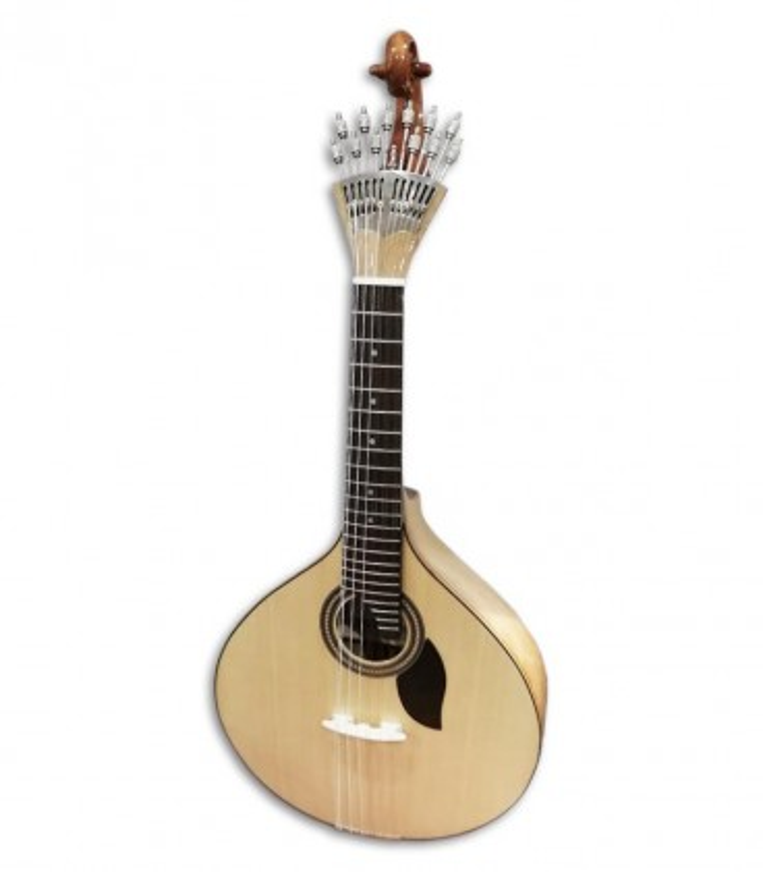 Foto de la Guitarra Portuguesa Artimúsica modelo 70070 Simples Lisboa de tamaño 3/4 de frente y en trés cuartos