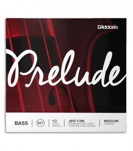 Photo of the cover of the String Set DAddario model  J610 Prelude for Double Bass 1/2 size