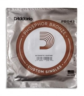 Photo of the package of the String DAddario model PB042W for Acoustic Guitar