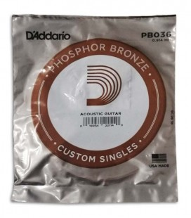 Photo of the package of the String DAddario model PB036W for Acoustic Guitar