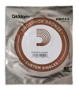 Foto del embalaje de la Cuerda DAddario modelo PB024W para Guitarra Acústica