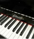 Ritmuller Upright Piano AEU118S PE Silent Classic 118cm Black Polish 3 Pedals