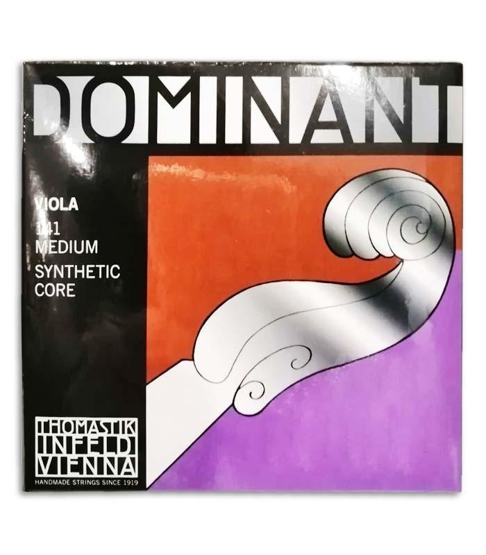Foto de la portada del embalaje del Juego de Cuerdas Thomastik Dominant 141 para Viola 4/4