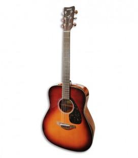 Foto de la Guitarra Folk Yamaha modelo FG800 en color Brown Sunburst de frente y en trés cuartos