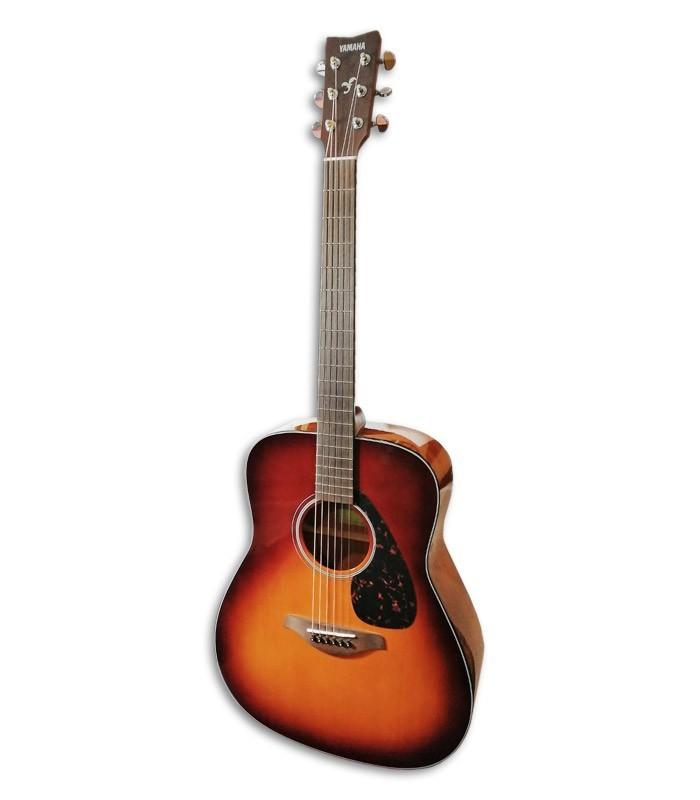 Foto de la Guitarra Folk Yamaha modelo FG800 en color Brown Sunburst de frente y en tr辿s cuartos