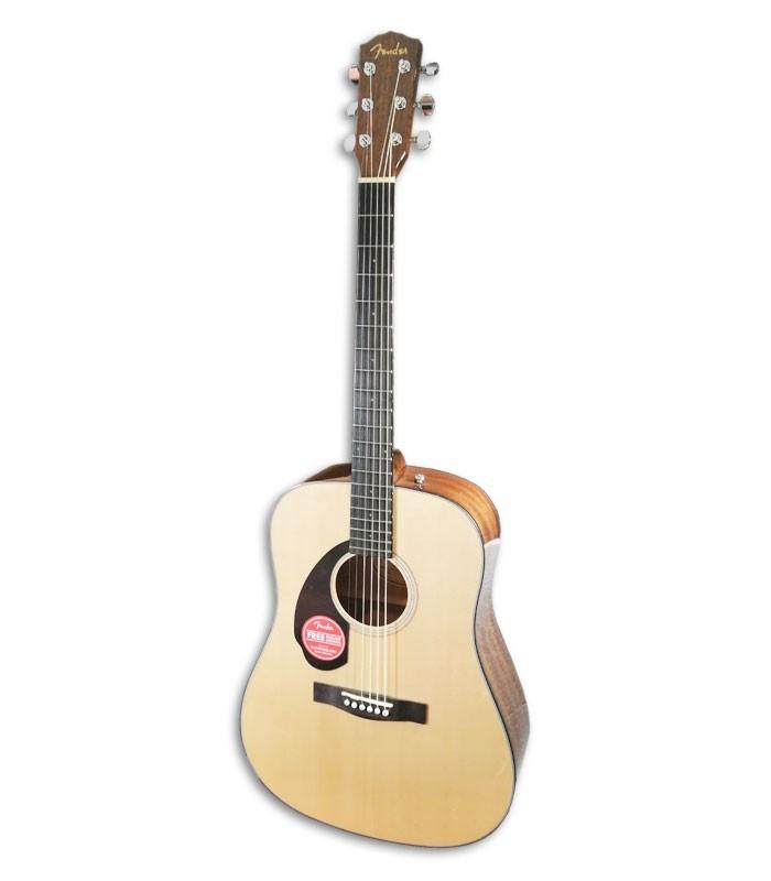 Foto de la Guitarra Acustica Fender Dreadnought modelo CD 60S LH Natural WN de frente y en trés cuartos