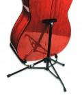Foto do Suporte Fender FMSA-1 Mini com uma guitarra