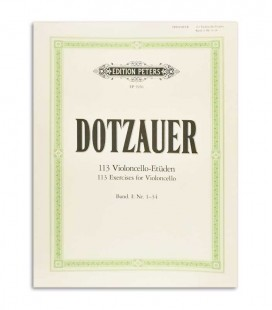 Peters Dotzauer 113 Exercises for Cello Vol 1 Nº 1-34 EP5956