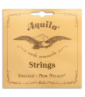 Photo of the cover of the package of the Aquila Baritone Ukulele String Set model 23U CGEA Tuning