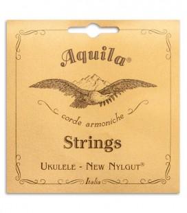 Foto da capa da embalagem do Jogo de Cordas Aquila modelo 23U para Ukulele Barítono Afinação CGEA