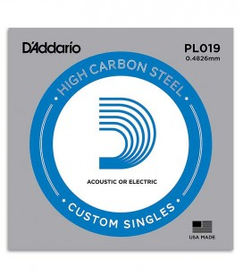 Photo of the package of the String D'Addario PL019 Electric or Acoustic Guitar