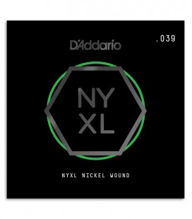 Cuerda DAddario NYNW039 Guitarra Eléctrica o acústica Nickel Wound