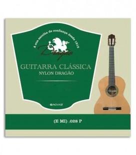 Foto de la portada de la Cuerda Dragão 825 Viola Dragão Nylon 028 Mi agudo