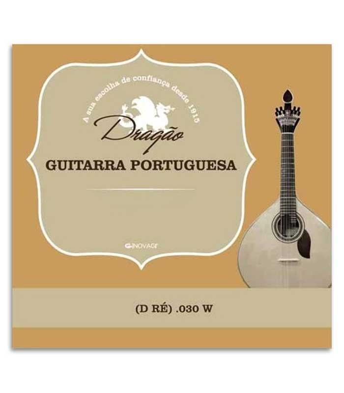 Corda Individual Dragão 875 para Guitarra Portuguesa Coimbra 030 3 Ré Bordão