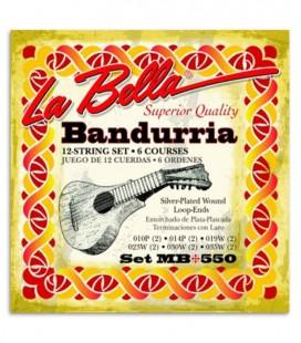 Foto de la portada del embalaje del Juego de Cuerdas LaBella MB 550 para Bandúrria