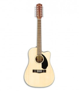Guitarra Electroac炭stica 12 cuerdas Fender CD 60SCE WN Dreadnougt Natural