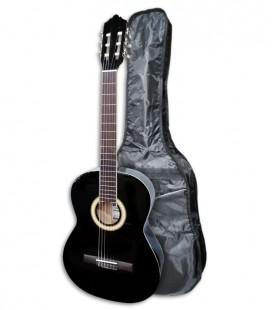 Photo of the Classical Guitar Ashton SPCG-44BK with bag