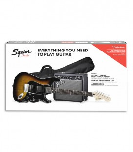Pack Fender Squier Affinity Stratocaster HSS Amplificador 15G Accesorios Brown Sunburst