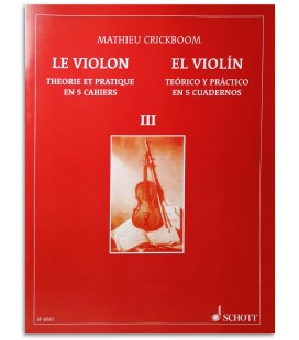 Photo of the Mathieu Crickboom The Violin Theory and Practice Vol 3 SF6561 book cover