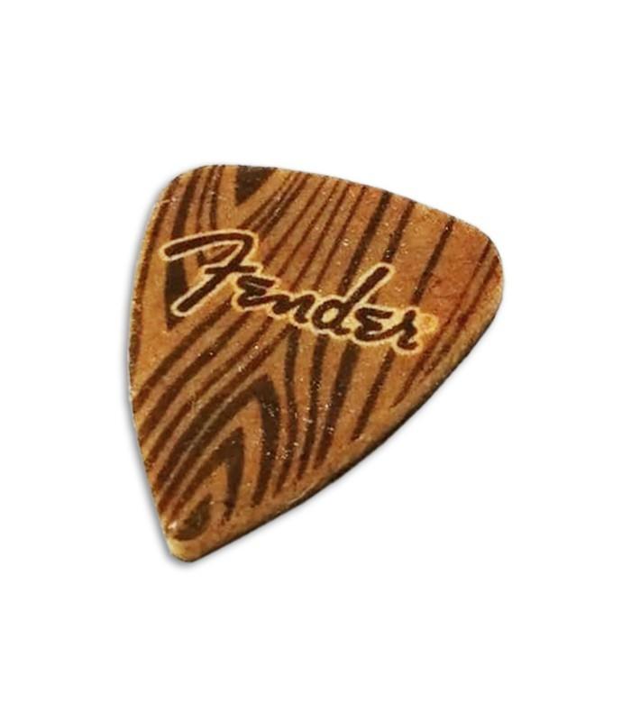 Foto de la P炭a Fender para Ukulele en Feltro con el logo