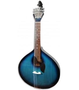Guitarra Portuguesa Artimúsica GPBBL Modelo Lisboa Blueburst Base Tapa Tílo Fondo Acacia Blueburst